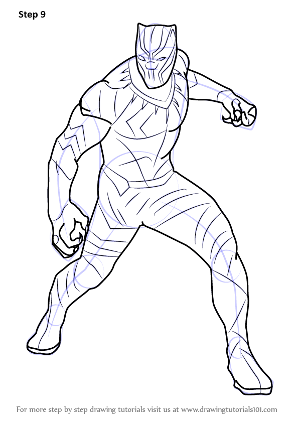 596x843 Learn How To Draw Black Panther From Captain America Civil War