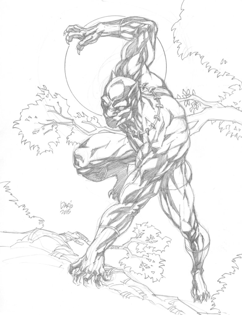 783x1020 Black Panther Pin Up By Darry