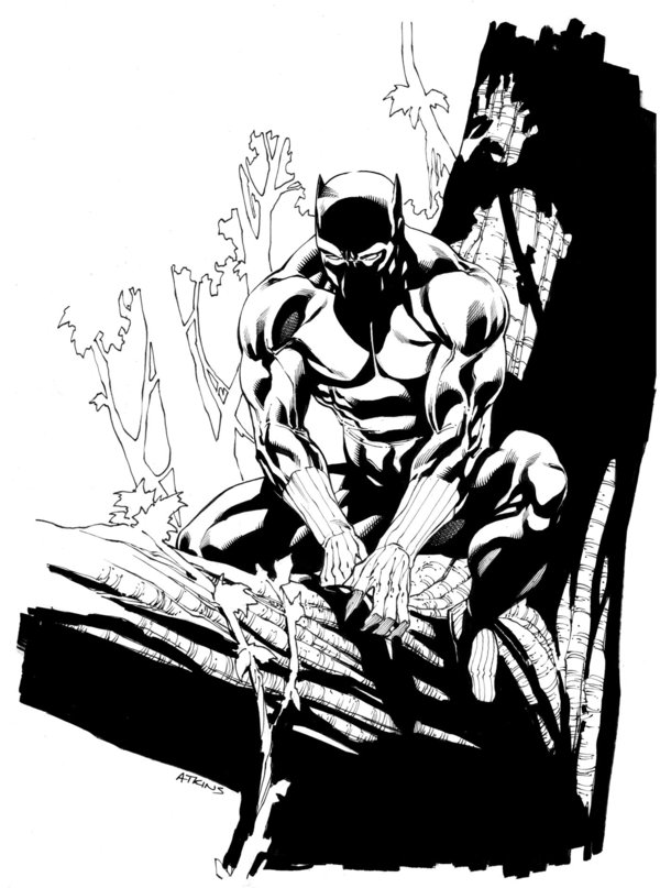 600x807 Avengers April Black Panther Sotd By Robertatkins