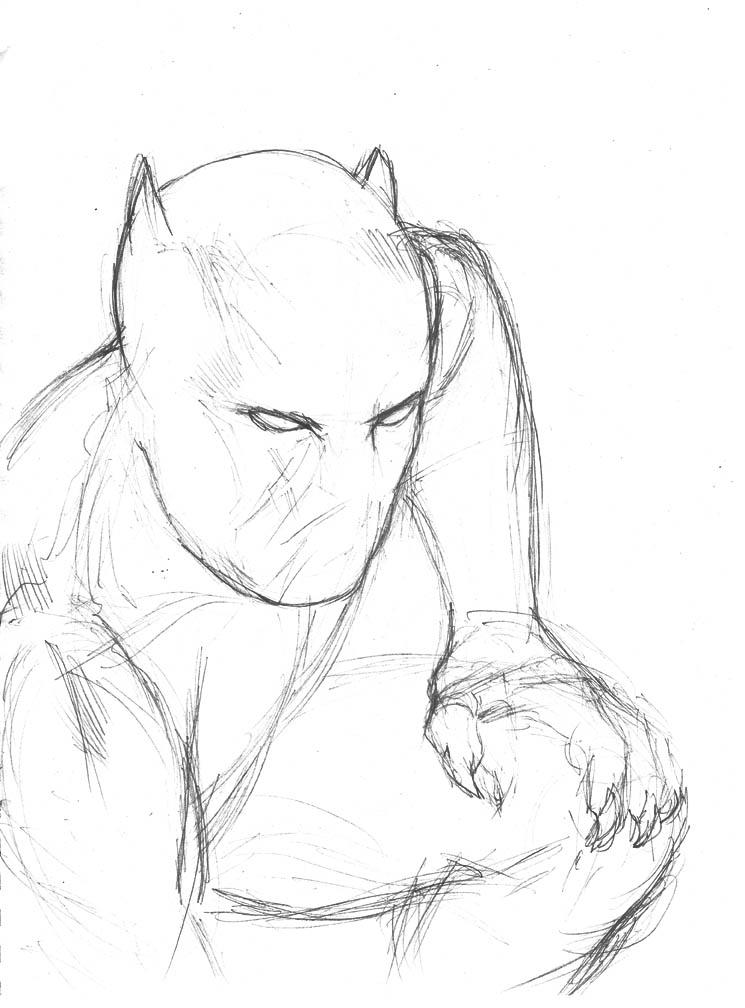 745x1008 Sketch 34. Black Panther By Dreamerwstcoast