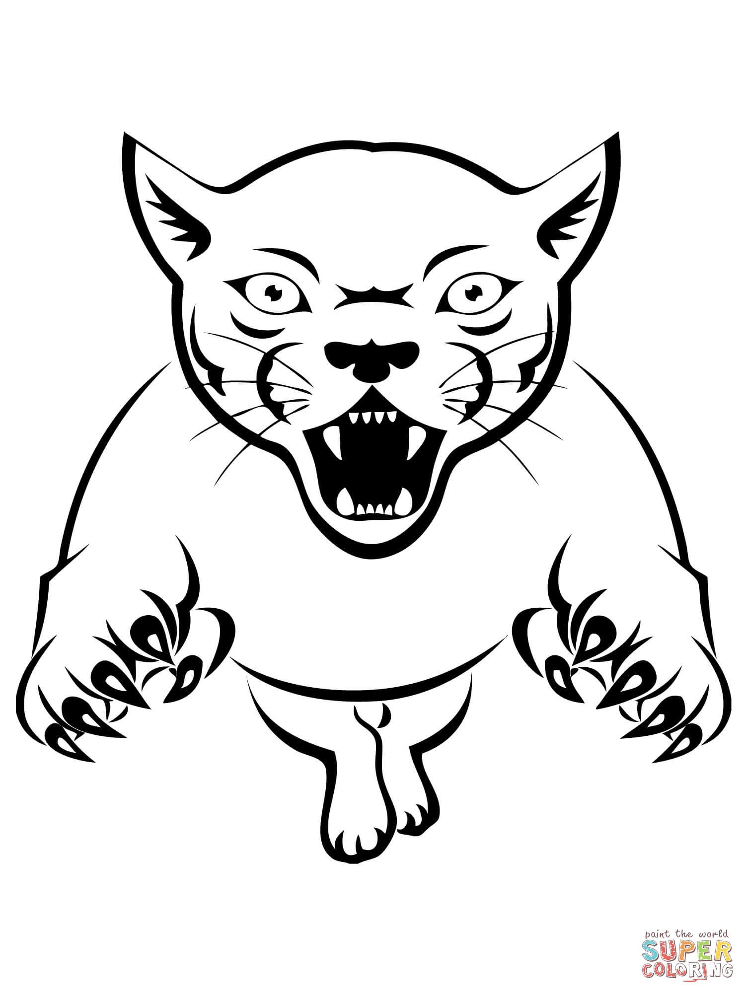 1500x2000 Black Panther Animal Lifespan Free Draw To Color
