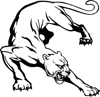 424x413 Cougars Panthers Mascot Decal Sticker En 6