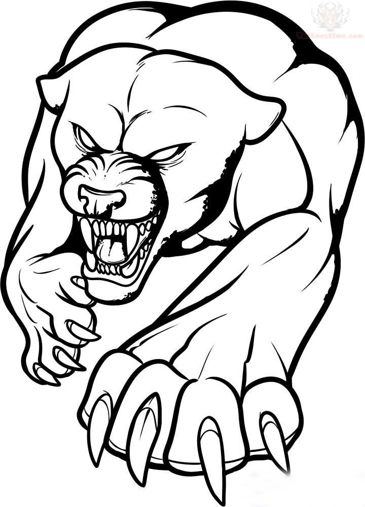 720x1001 Outline Jaguar Tattoo Design Flags Pic For Jaguar