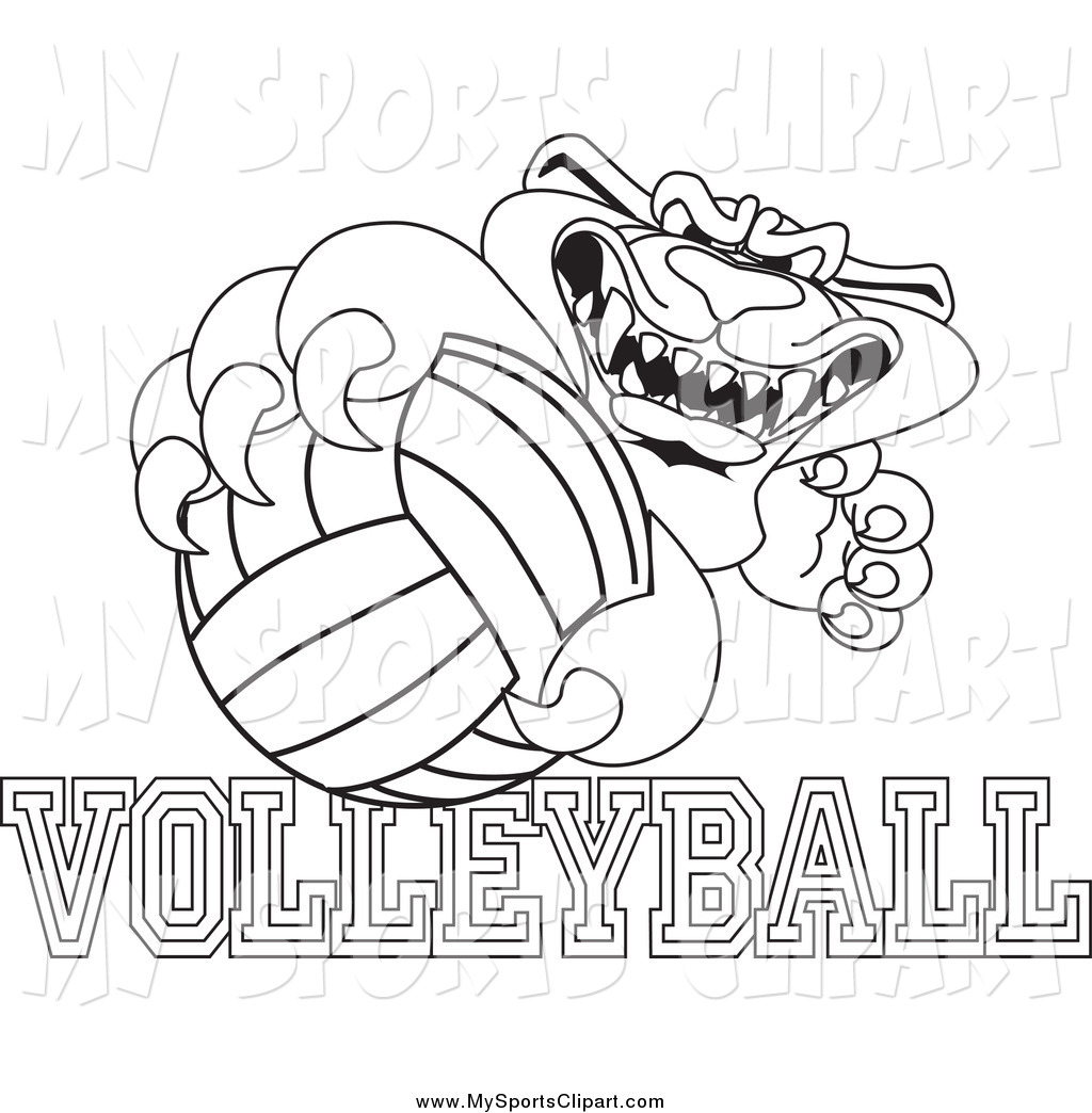 1024x1044 Panther Clipart Volleyball