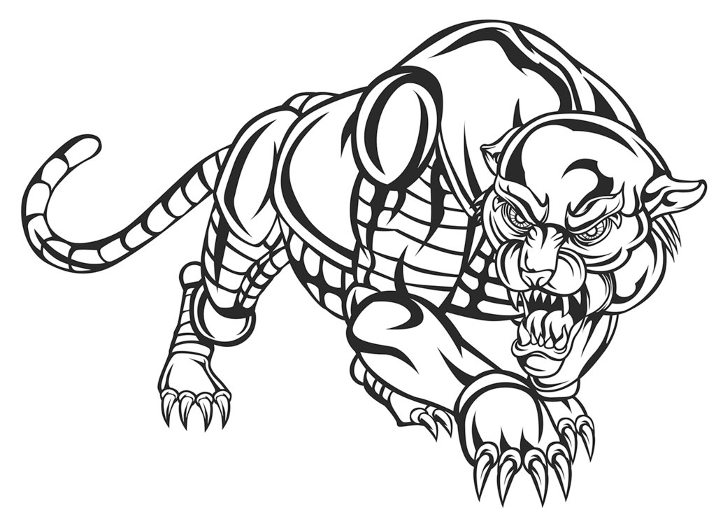1024x732 Robotic Panther Outline By Jumbienutes