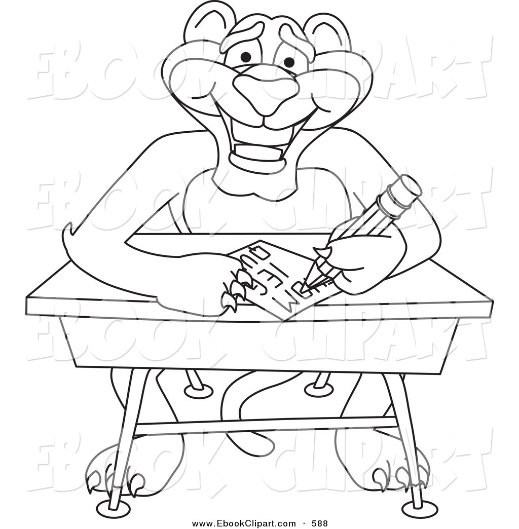 1024x1044 Vector Clip Art Of A Coloring Page Outline Of A Panther Character