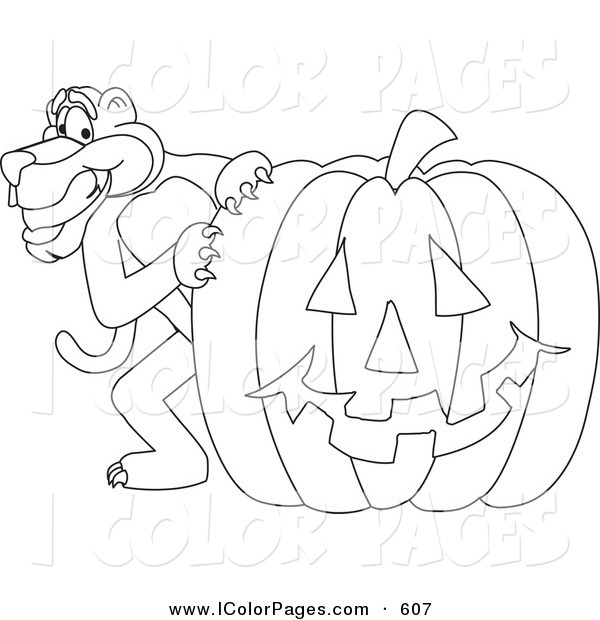 600x620 Vector Coloring Page Of A Coloring Page Outline Of A Panther