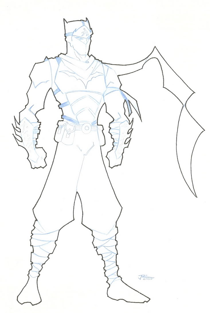 733x1093 Superhero Outline Template