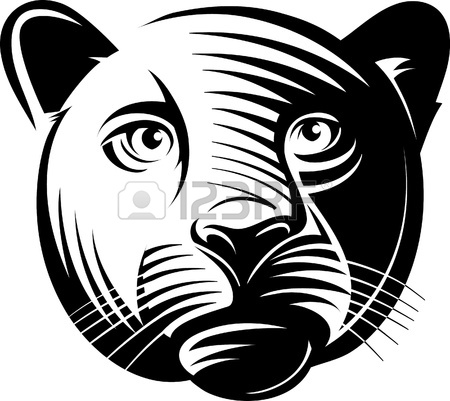 450x401 Panther Head. Illustration In The Engraving Manner. Picture Can