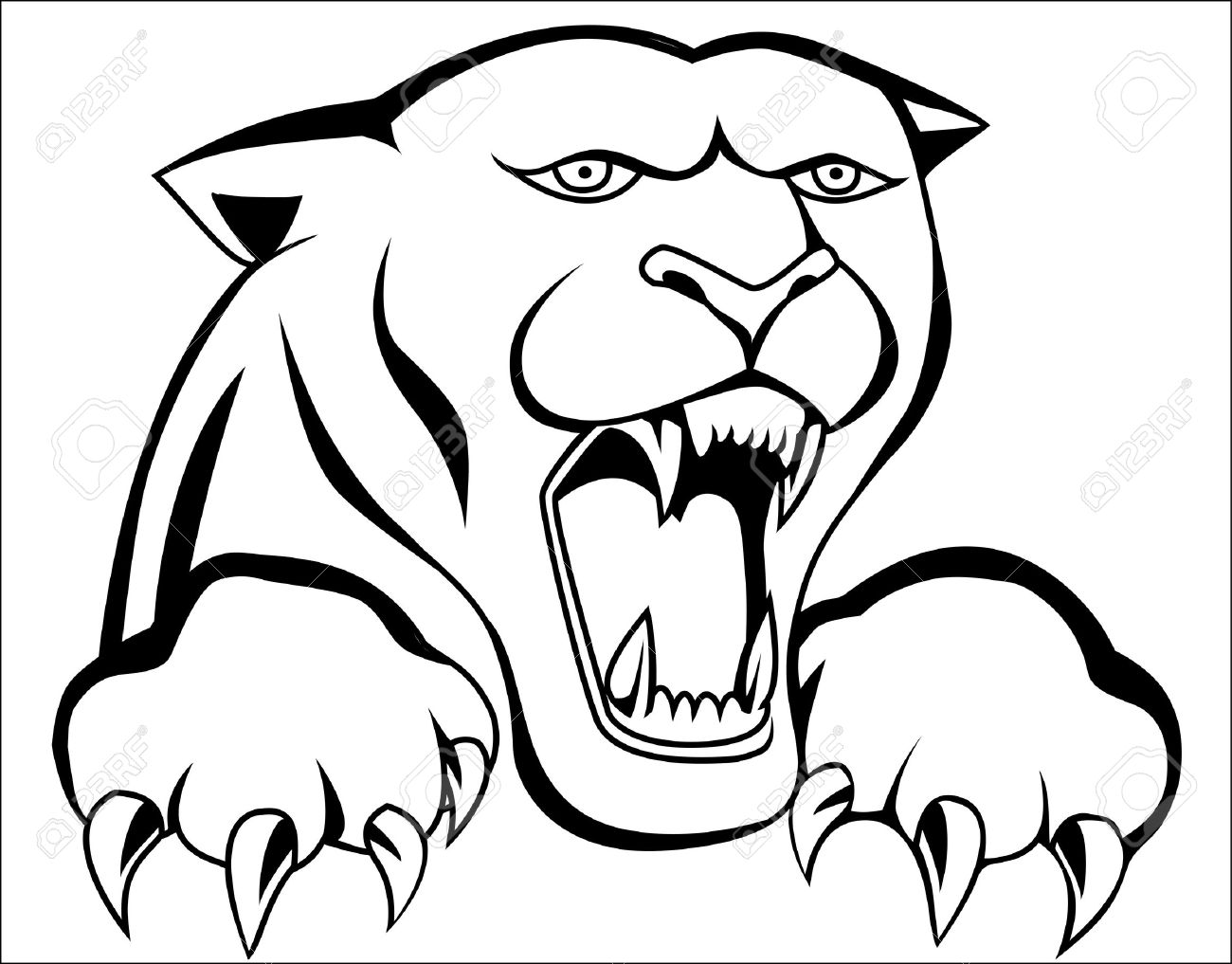1300x1017 Panther Tattoo Royalty Free Cliparts, Vectors, And Stock