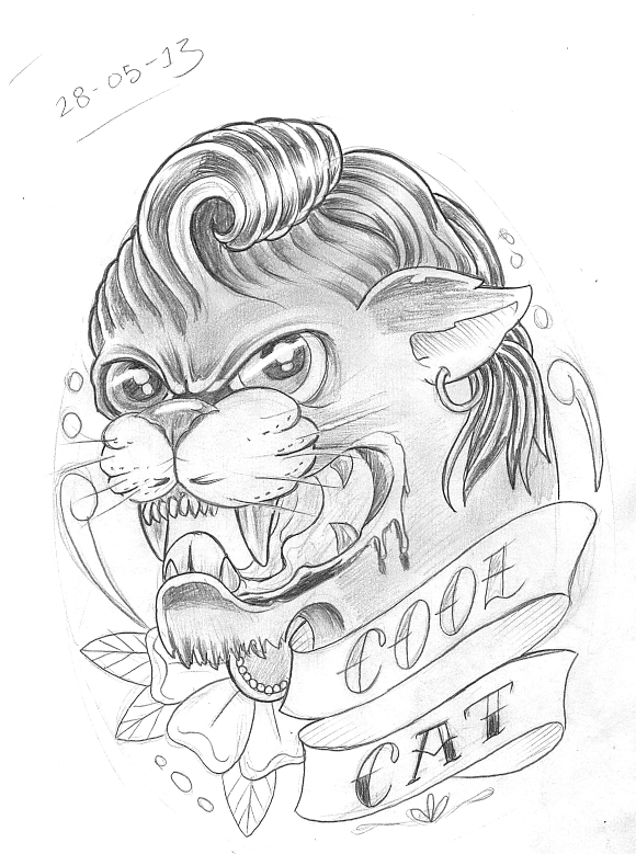 580x779 Tattoo Sketch A Day May 2013