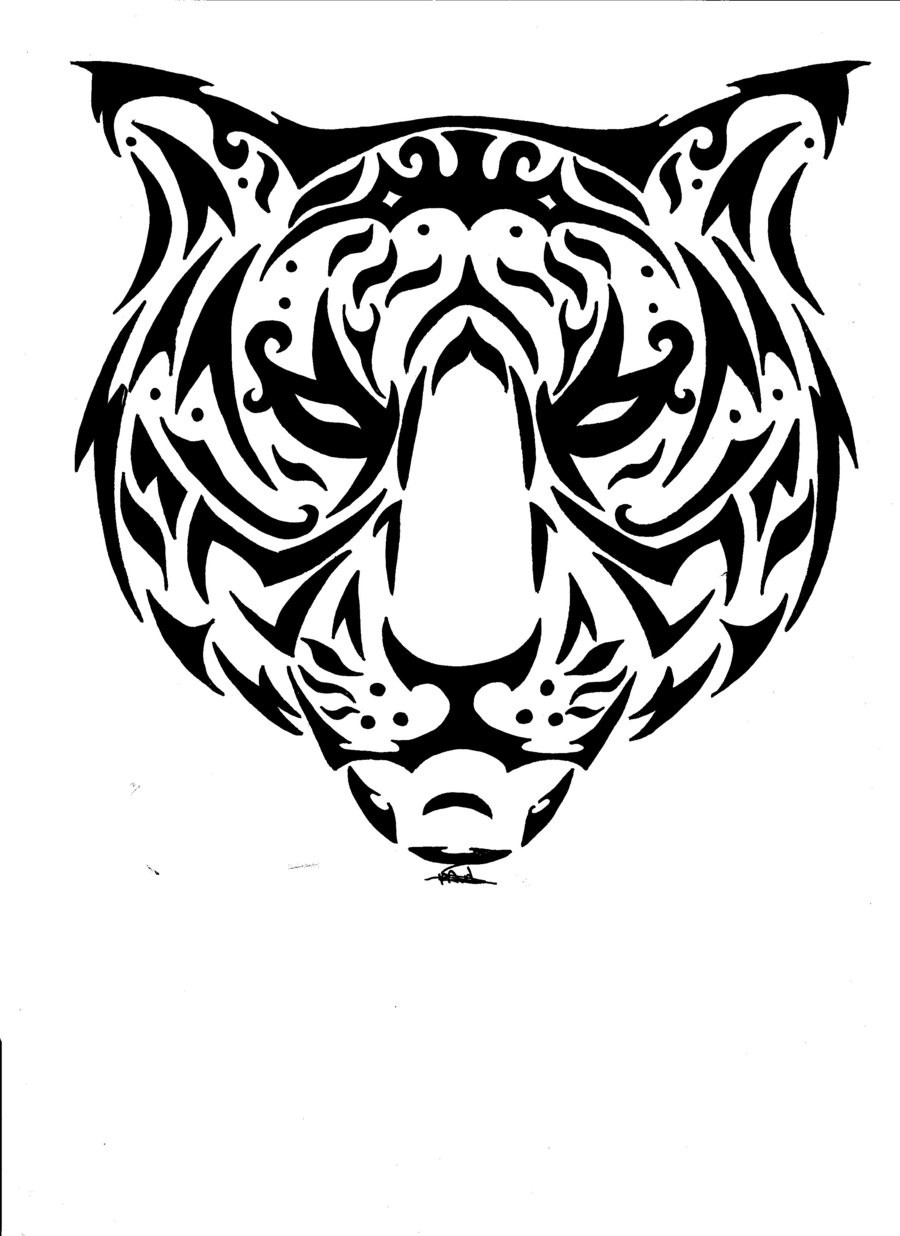 900x1236 Black Panther Tribal Tattoo Designs