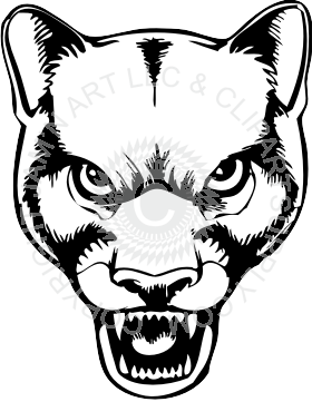 280x361 Panther Head Black And White