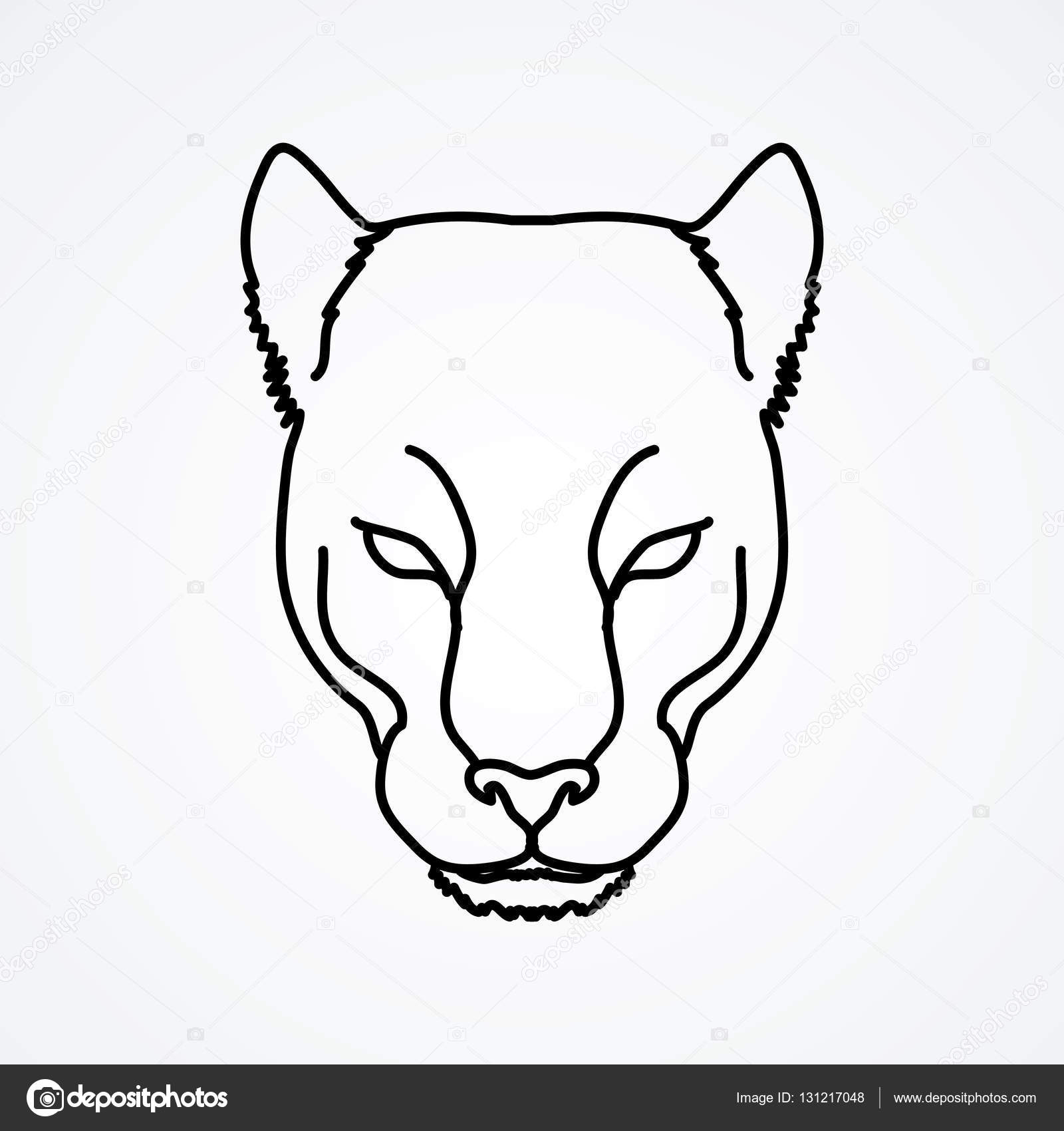 1600x1700 Black Panther Head Stock Vector Sila5775