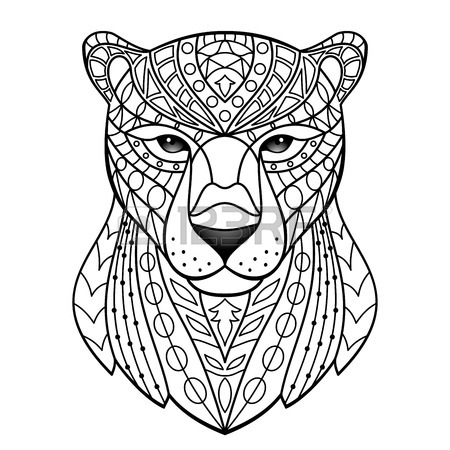 Panther Line Drawing