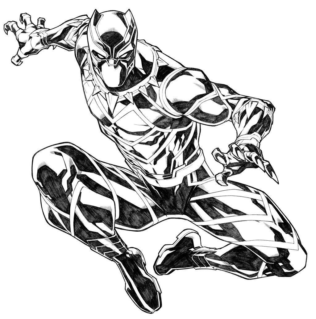 1024x1034 Black Panther By Carlosgomezartist