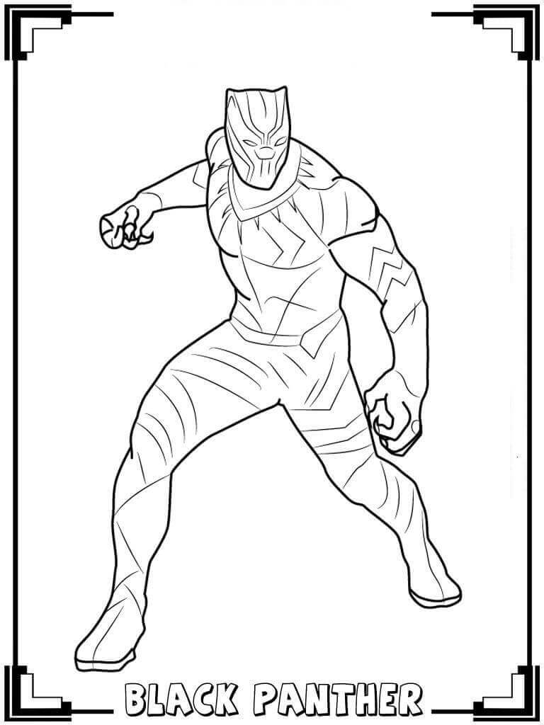 768x1024 Free Printable Black Panther Coloring Pages