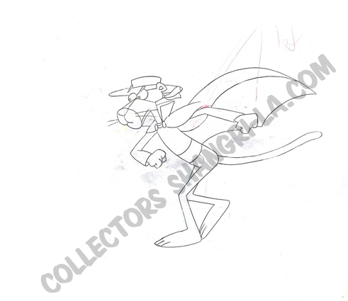 491x425 Pink Panther Animation Production Cel With Original Pencil Drawing