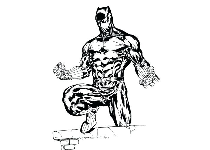 700x500 Black Panther Coloring Pages Black Panther Coloring Pages Page 1