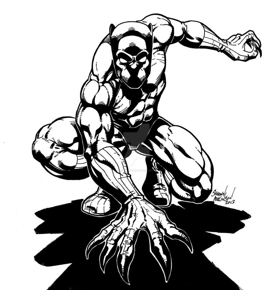 867x921 Drawn Panther Superhero