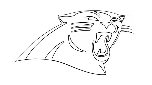 615x346 How To Draw The Carolina Panthers Logo Nfl Throughout Drawings