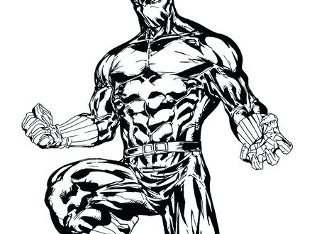 440x330 New Black Panther Coloring Pages Print Panthers Page Free Download