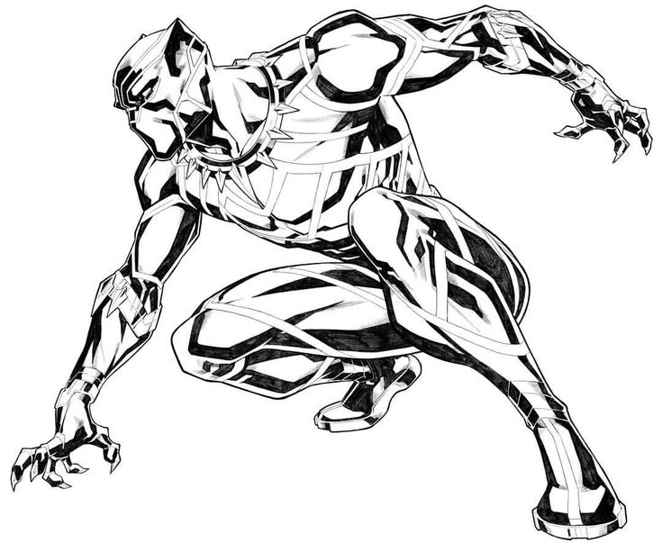735x603 The Best Black Panther Drawing Ideas On Black