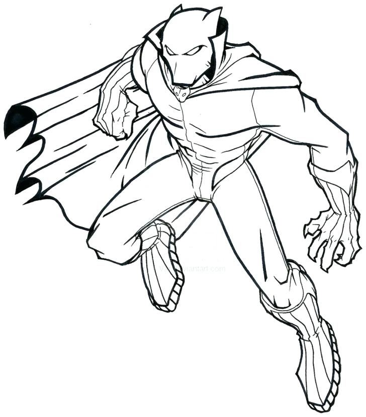 728x828 Panther Coloring Page
