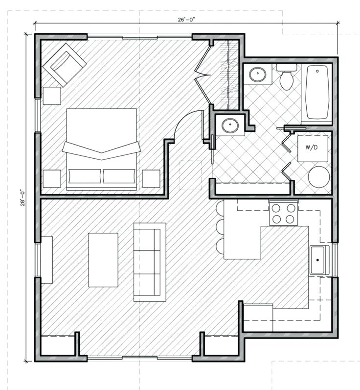 736x796 Fresh Floor Plan For 1 Bedroom House Home Decor Best One Plans