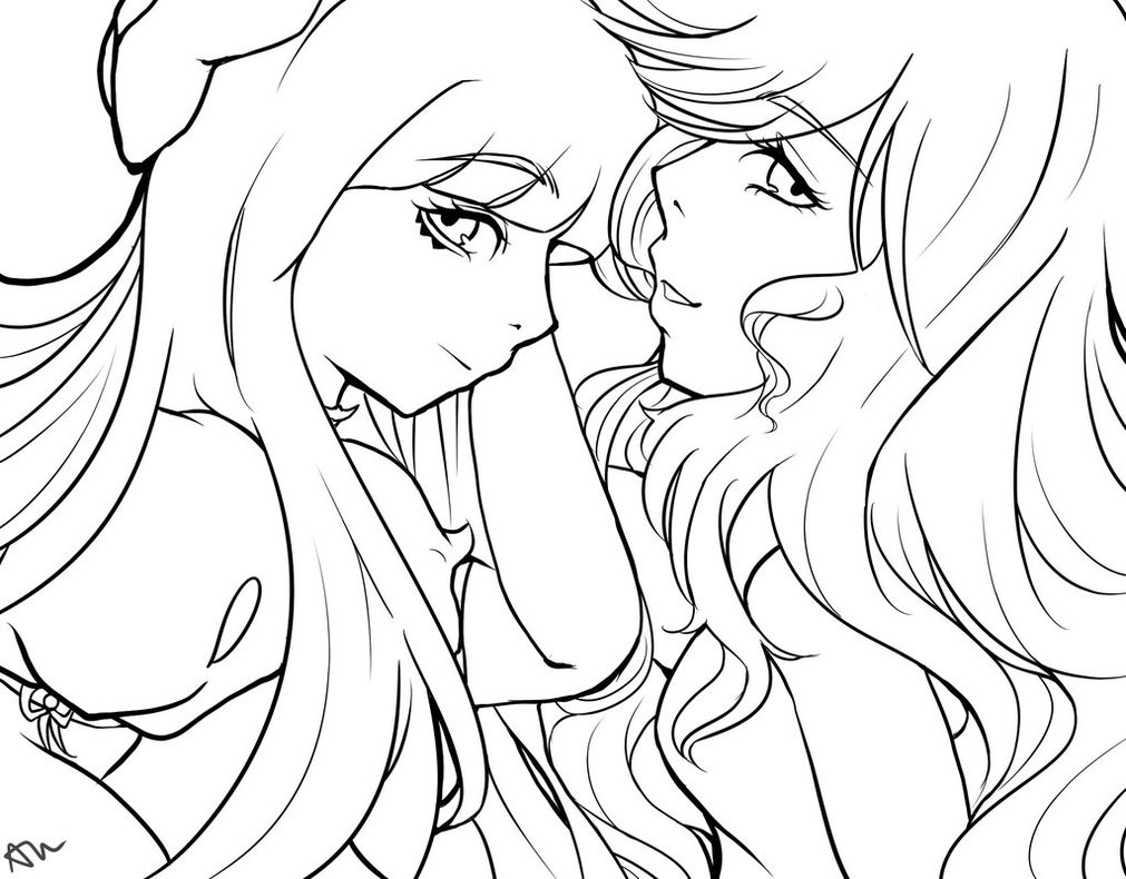 1011x790 Panty And Stocking Lineart By Azuyuu
