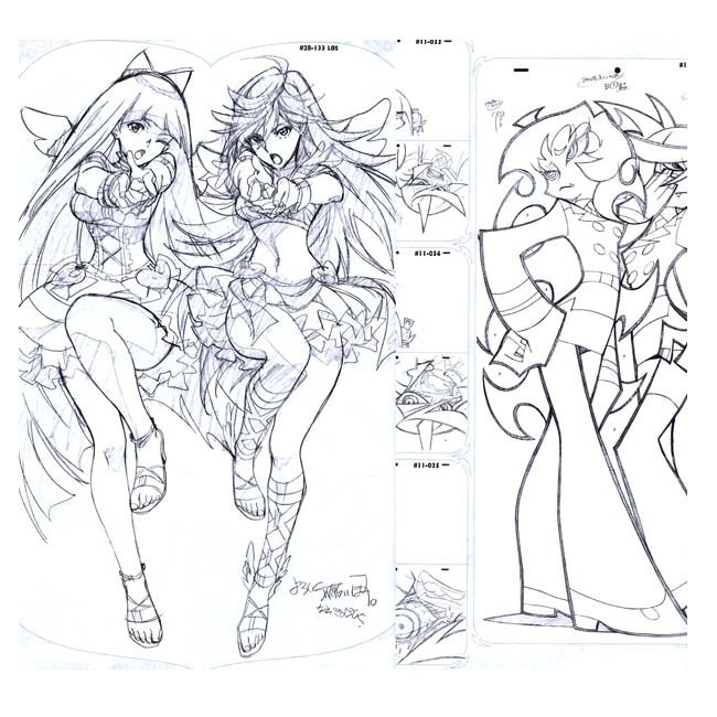 650x650 Art Book Ground Works Of Panty Stocking With Garterbelt Animation
