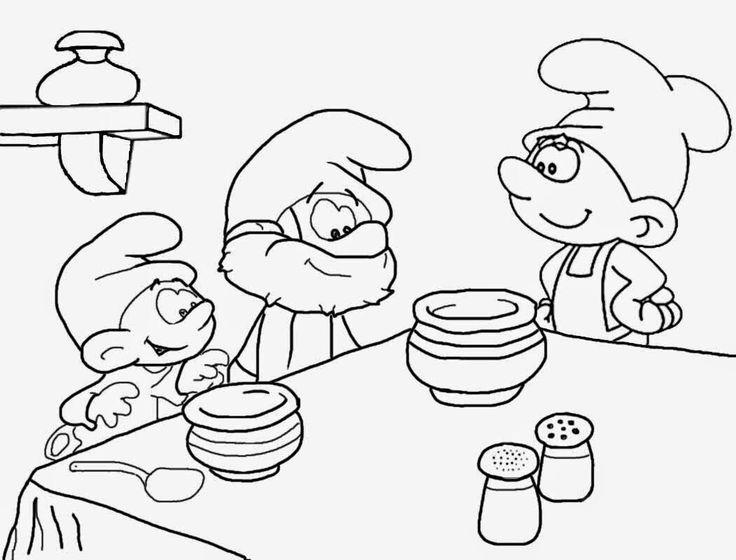 Papa Smurf Drawing