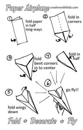 Creative tricks: Paper planes #4: The Canada Goose base and the plane itself | 450x288