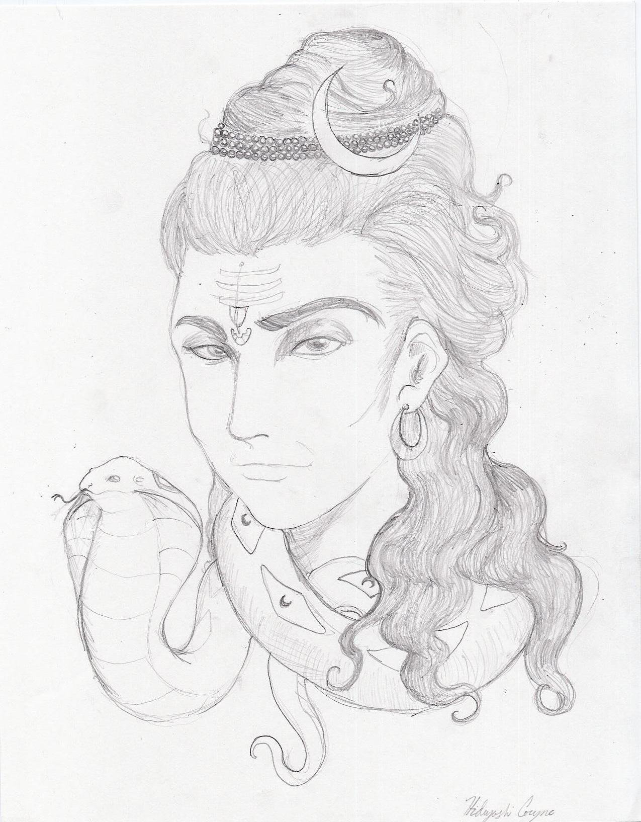1275x1634 Paper And Pencil Drawing Lord Shiva Paper And Pencil Drawing