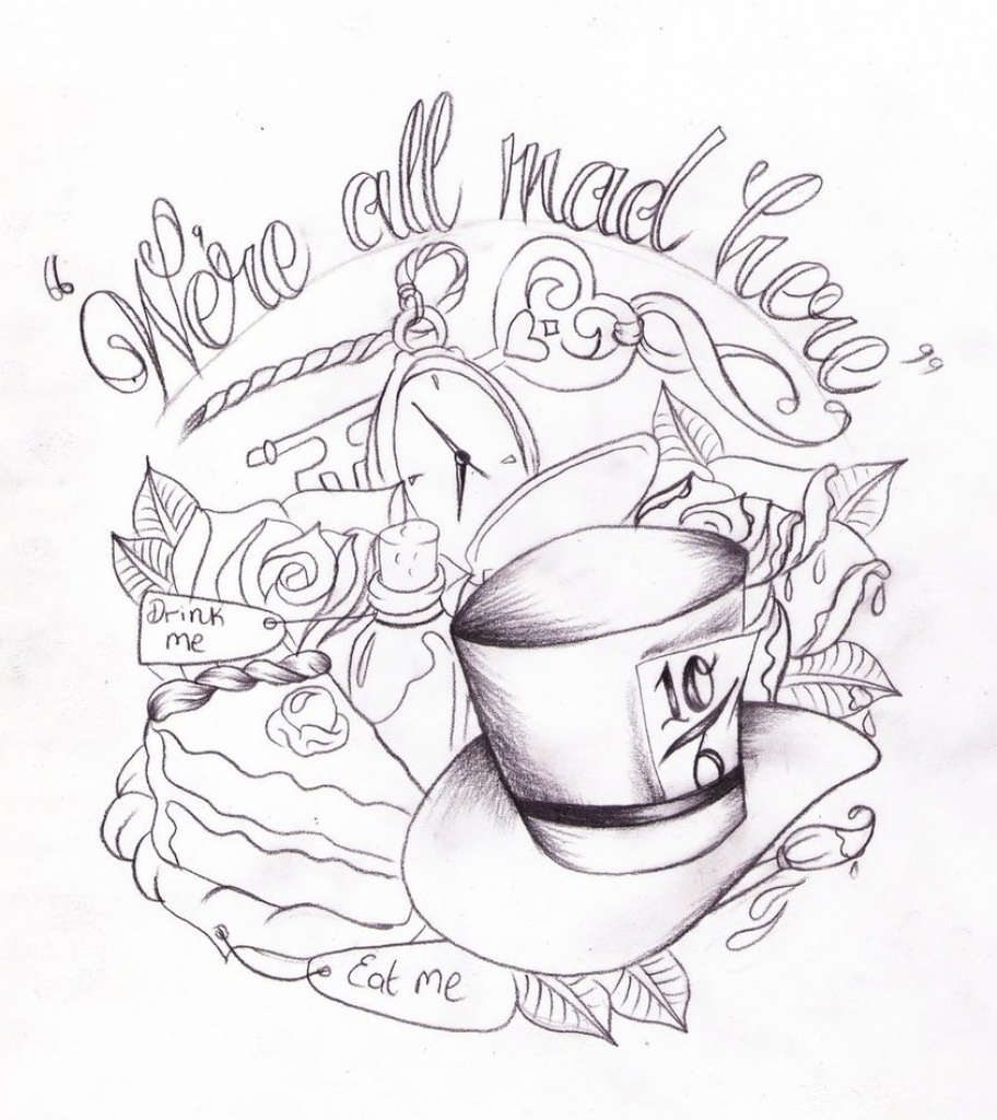 912x1024 Alice In Wonderland Pencil Drawings Alice In Wonderland3939 Pencil