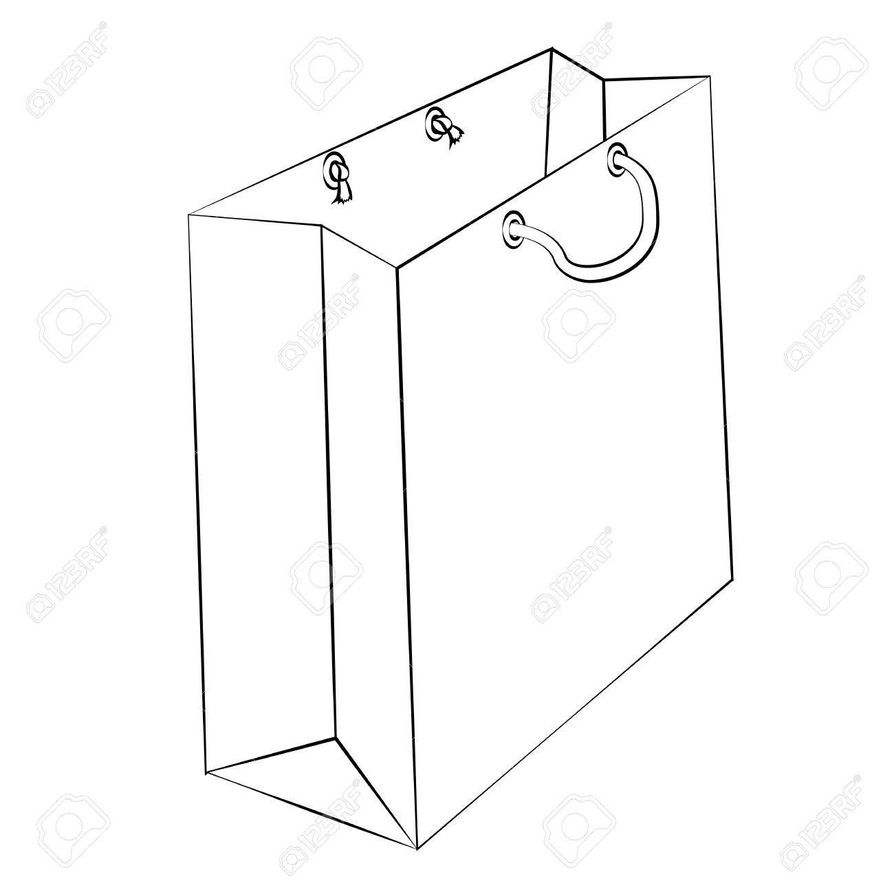 1300x1300 Vector Paper Bag To Reduce Global Warming Is Isolated On A White