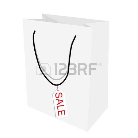 450x450 Blank Paper Bag Template. Shopping Bag, Photo Realistic Template