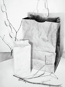 225x300 Brown Paper Bag Drawings Fine Art America