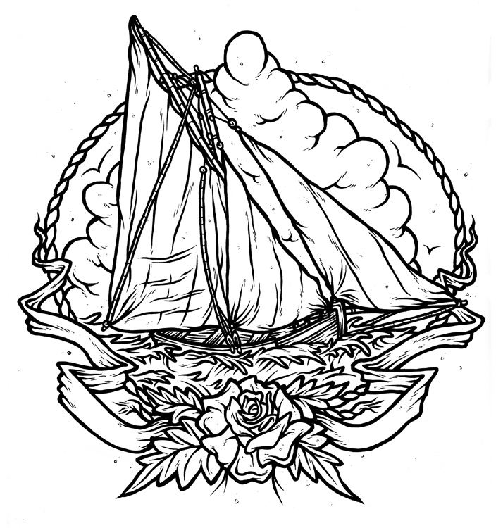 Paper boat drawing at getdrawings free for personal use paper 714x750 galway hooker fairly recent commission for fellow yorkshir flickr malvernweather Images