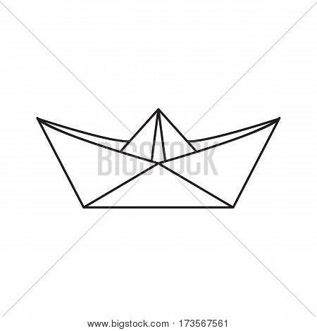 450x470 Icon Paper Boat Outline Style Vector Amp Photo Bigstock
