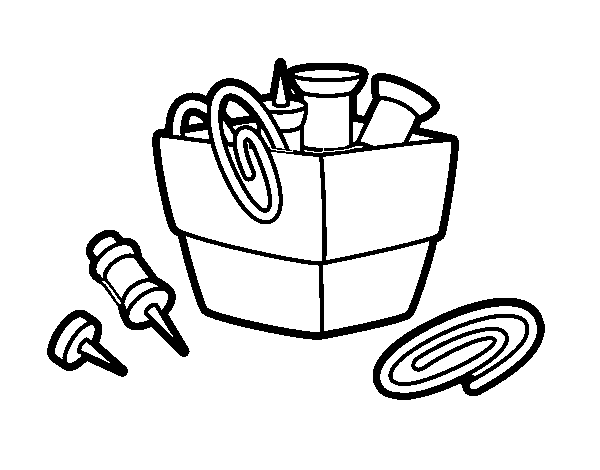 600x470 Paper Clip Holder Coloring Page