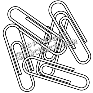 300x300 Paper Clip Clipart Black And White 4 Clipart Station
