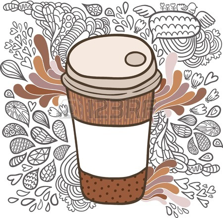 450x441 Cute Hand Drawn Cartoon Doodle Coffee Cup Royalty Free Cliparts