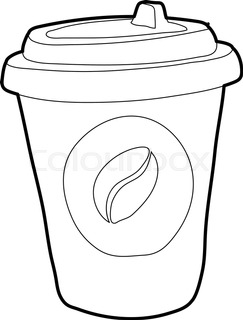 243x320 Take Away Fast Food Coffee Paper Cup Vector Template. Stock