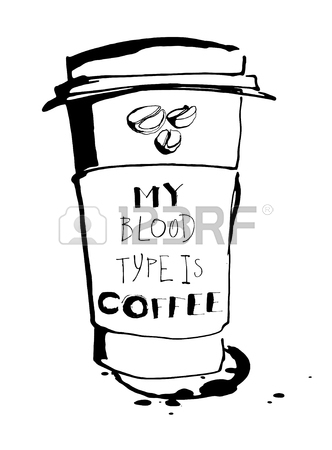 332x450 Vector Illustration Grungy Hand Drawn Ink Paper Cup To Go Take