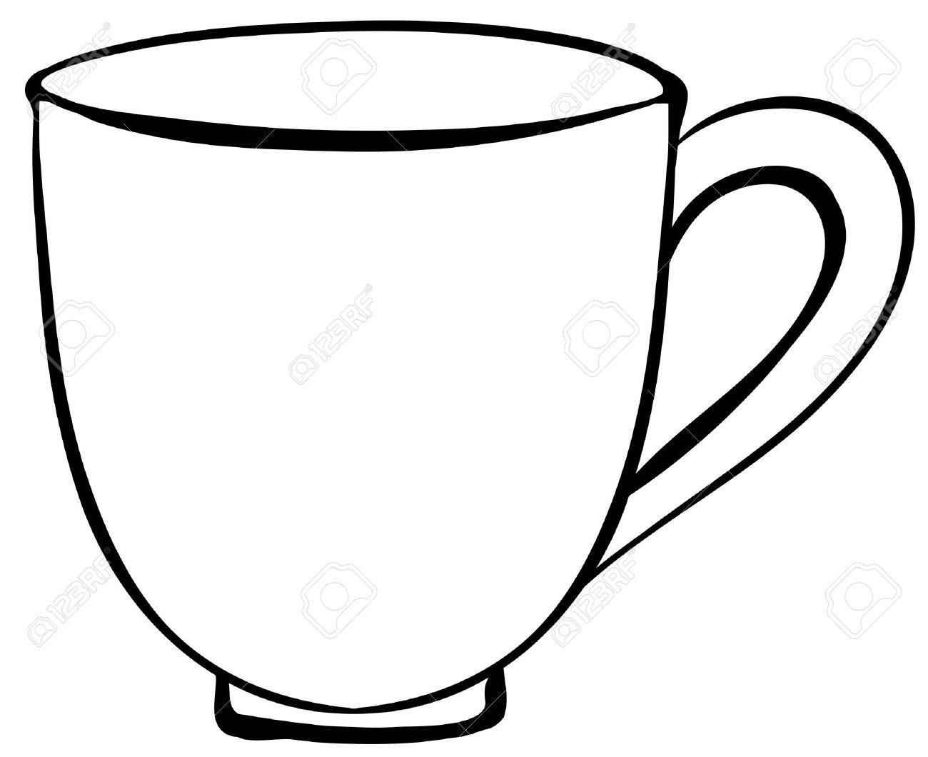 1300x1060 Closeup Plain Design Of Coffee Cup Royalty Free Cliparts, Vectors