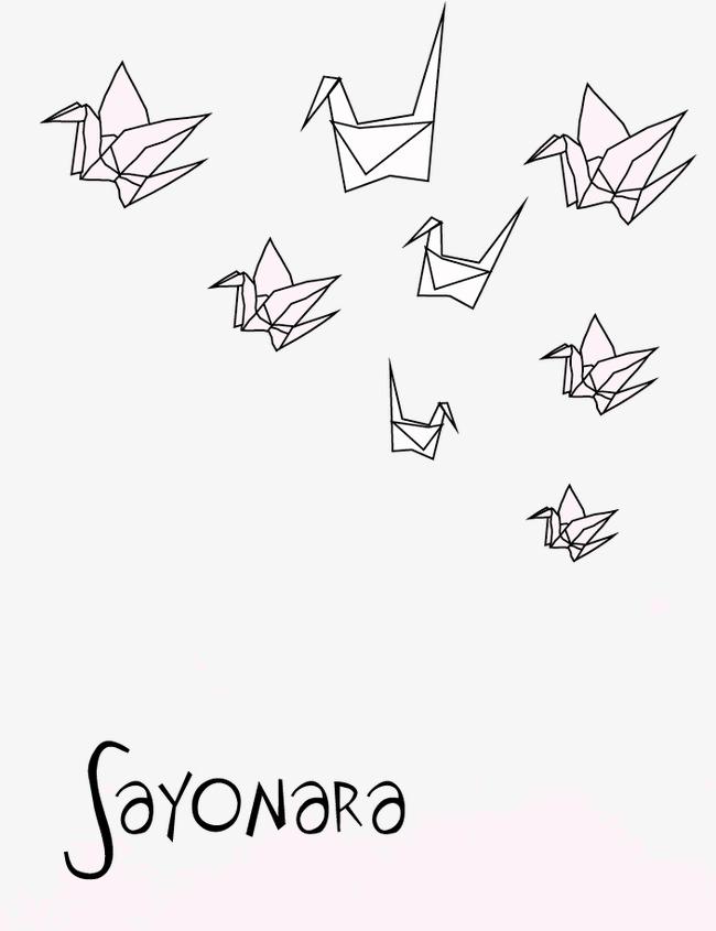 650x845 Fold Paper Cranes Vector Illustration, Fold Paper Cranes, Origami