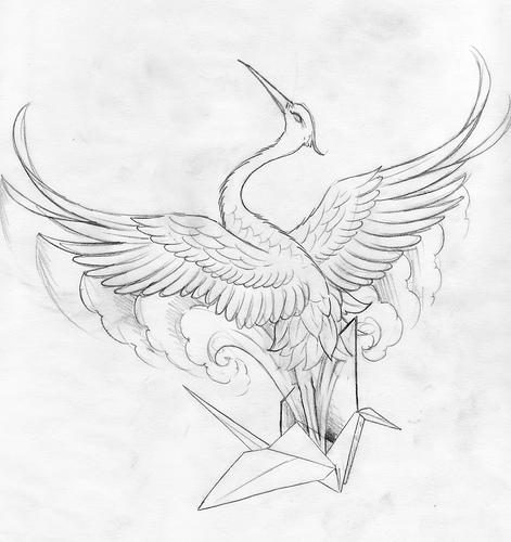 471x500 Paper Crane Spirit