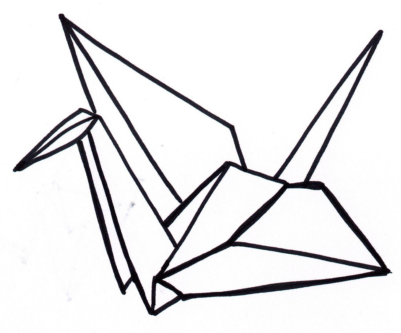 1309x1087 Paper Crane. I Folded 1,000 Of Them Once. Tattoo Ideas