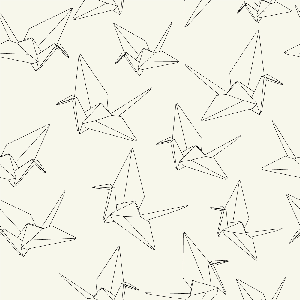1000x1000 Paper Cranes Hand Drawing (Origami) Hand Drawings, Paper Cranes